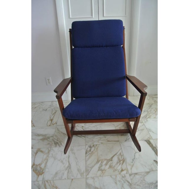 Mid-Century Modern Rocking Chair by Poul Volther For Sale - Image 3 of 9