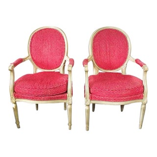 1980s Vintage Custom Chairs- A Pair For Sale
