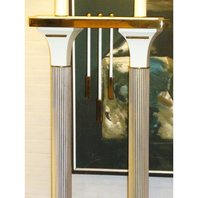 Monumental High Style Modernist Columnar Lamp Parzinger Style. - Image 6 of 8