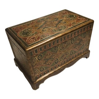 Moroccan Wooden Box For Sale