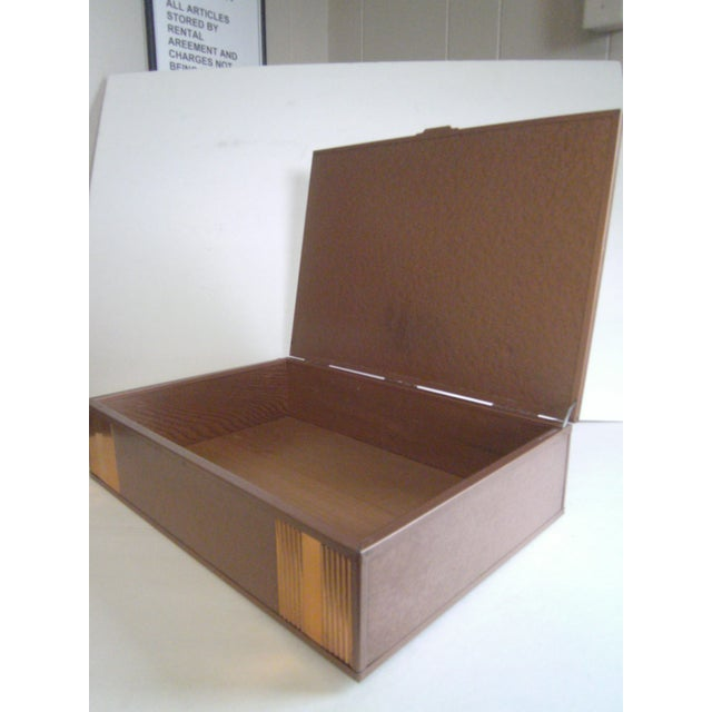 1940s Copper Enameled Metal on Wood Boxes - A Pair - Image 6 of 11