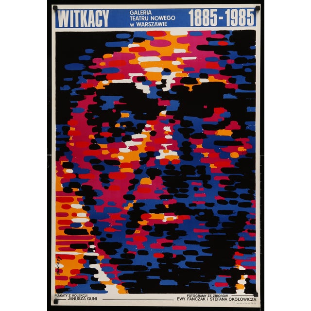 Witkasy, the 1985 Polish Poster advertising an art exhibit of works by Stanislaw Ignacy Witkiewicz (held on the 100th...