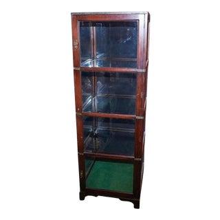 Ralph Lauren Wood and Glass Vitrine For Sale
