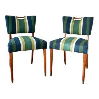 Blue & Green Handle Chair For Sale