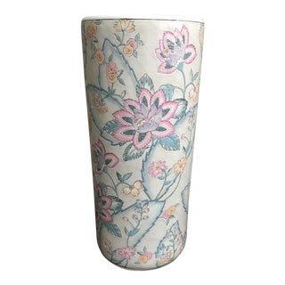 Vintage Chinese Porcelain Umbrella Stand For Sale
