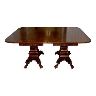 19th C. William IV Style Mahogany Extending Dining Table W/ Lions Paw Feet For Sale