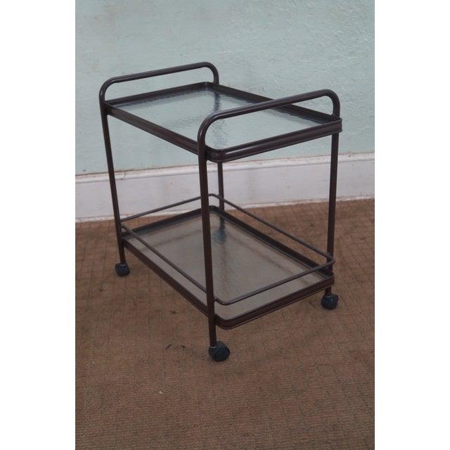 Mid-Century Modern Brown Jordan Tamiami Aluminum Patio Serving Cart For Sale - Image 3 of 10
