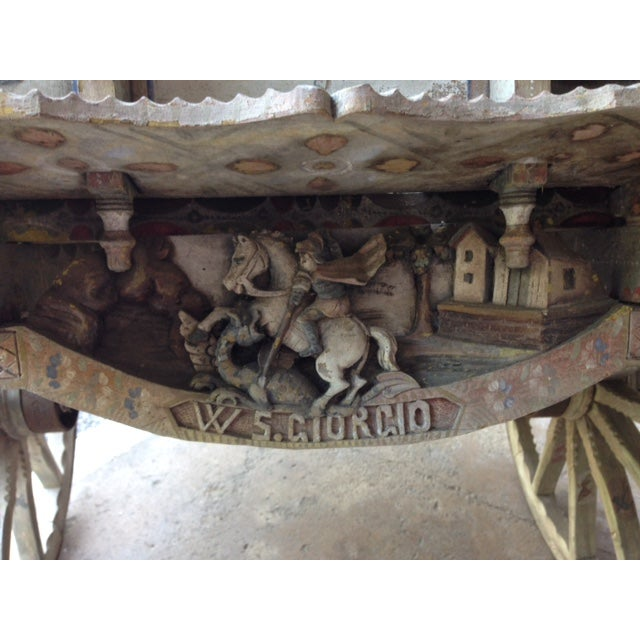 19th-Century Sicilian Goat Cart For Sale - Image 4 of 9