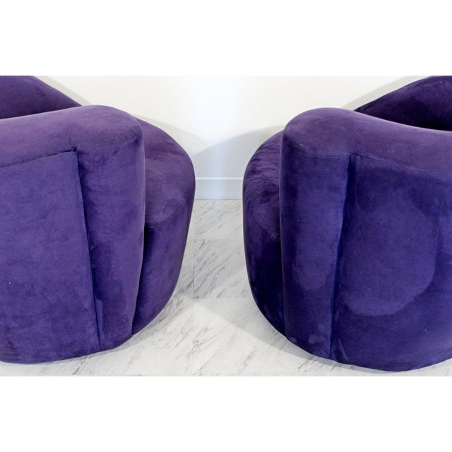 1980s Vintage Contemporary Vladimir Kagan Corkscrew Swivel Chairs- A Pair For Sale In Detroit - Image 6 of 9