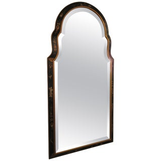 1960s Beveled Chinoiserie Mirror For Sale