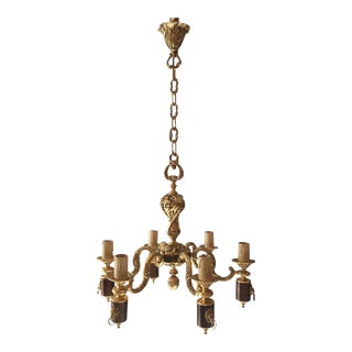 French Louis XVI Style Bronze Chandelier