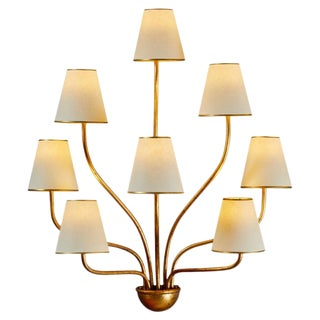 Large 'Persanne' Eight-Arm Wall Light in the Style of Jean Royère For Sale