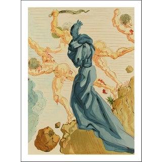 "Salvador Dali Original""Hell 15, the Hard Margins"" Woodcut Print For Sale"