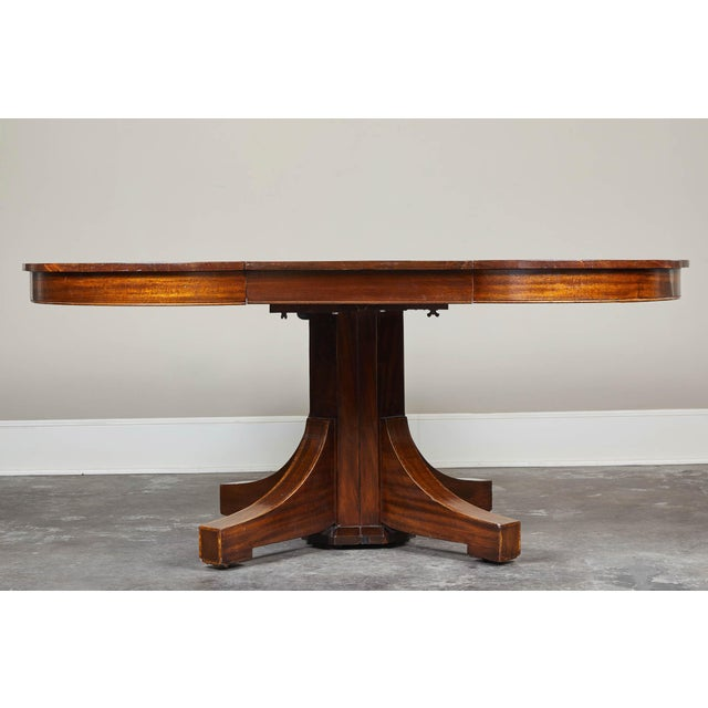 19th C. English Mahogany Pedestal Table For Sale In Los Angeles - Image 6 of 9
