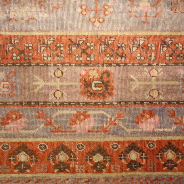 Early 20th Century Early 20th Century Central Asian Khotan Carpet - 8' x 16' For Sale - Image 5 of 6