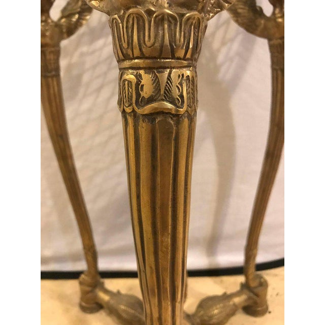 Metal 19th-20th Early Empire Bronze Basket or Jardinière on Figural Gilt Bronze Stand For Sale - Image 7 of 13