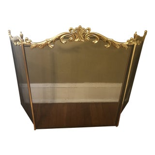 1980s French Gold Gilded Fireplace Screen For Sale