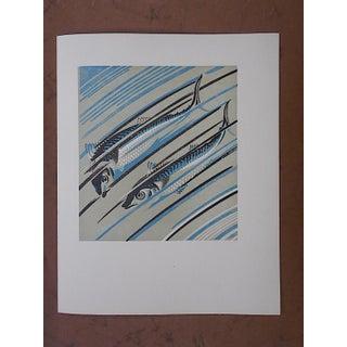 Vintage Ltd. Ed Woodcuts by J. Kefalleno-Greece-Fish Preview