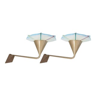 Mid 20th Century Vintage of Multicolor Sconces by Leucos - a Pair For Sale