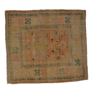 Early 20th Century Antique Khotan Rug - 5′7″ × 6′ For Sale