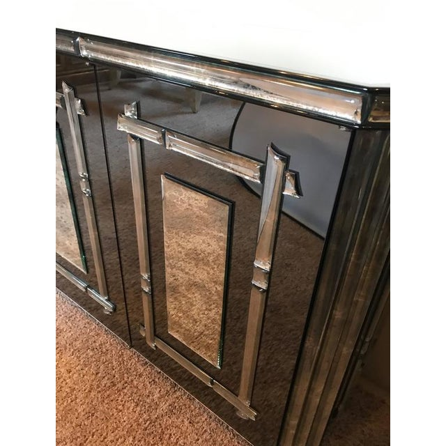 Hollywood Regency All Mirrored Sideboard Cabinet - Image 11 of 11