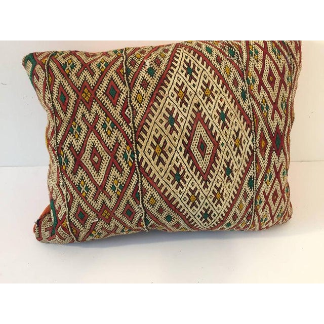 Handwoven Moroccan Tribal Berber Throw Pillow For Sale - Image 10 of 10