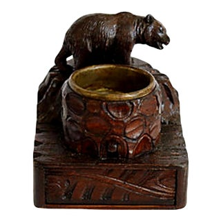19th-C. Black Forest Bear Smoking Box For Sale