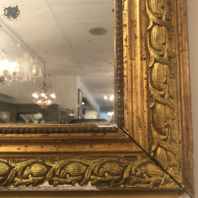 French Louis Phillipe Gold Mirror For Sale - Image 3 of 11
