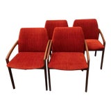 Image of 1960s Vintage Kai Kristiansen Dining Chairs- Set of 4 For Sale