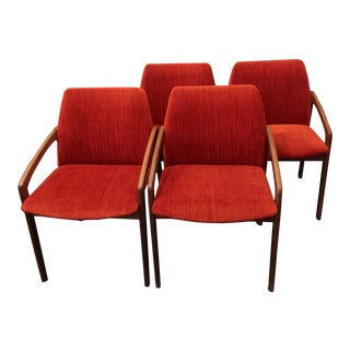 1960s Vintage Kai Kristiansen Dining Chairs- Set of 4 For Sale