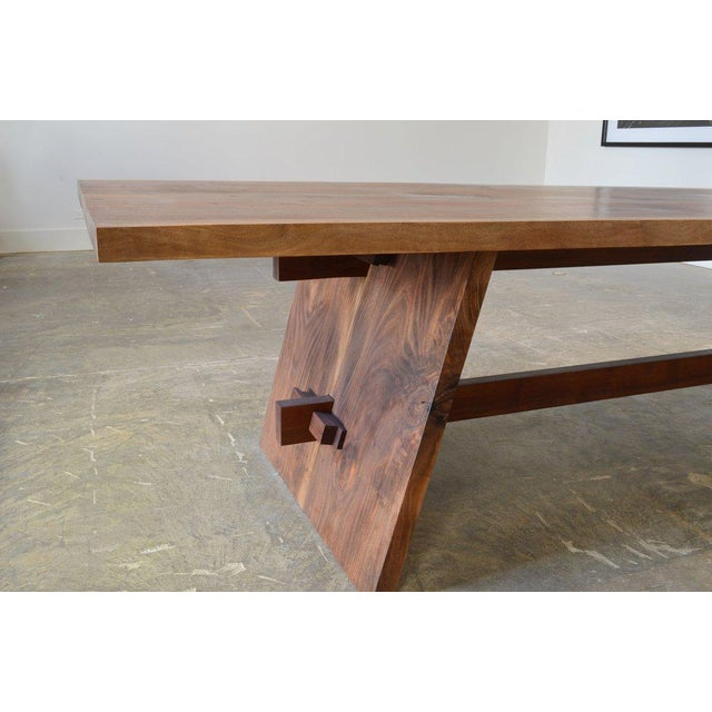 Benchmade by OZ|SHOP wood workers in Scottsdale, Arizona. Constructed from a single slab of solid Walnut and kintsugi...