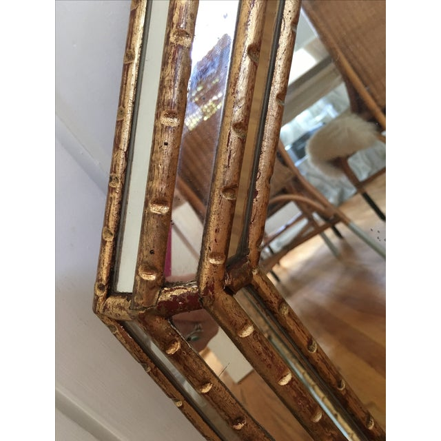 Hollywood Regency Faux Bamboo Gold Mirror - Image 10 of 11