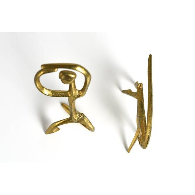 Mid-Century Modern Frederic Weinberg Modernist Bronze Sculptures, 1950s For Sale - Image 3 of 6