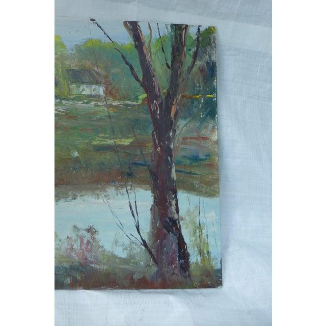 H.l. Musgrave Modernist Landscape Oil Painting - Image 5 of 6