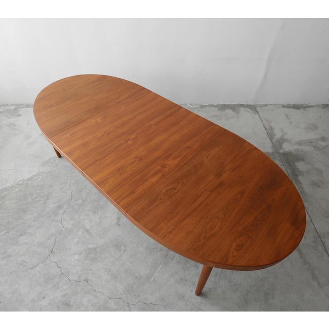 Danish Modern Mid Century Danish Teak Oval Dining Table by Harry Ostergaard for A/S Randers For Sale - Image 3 of 11