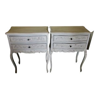 White French Nightstands - A Pair