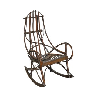 Antique Bentwood Hickory & Oak Twig Rocker (A) For Sale