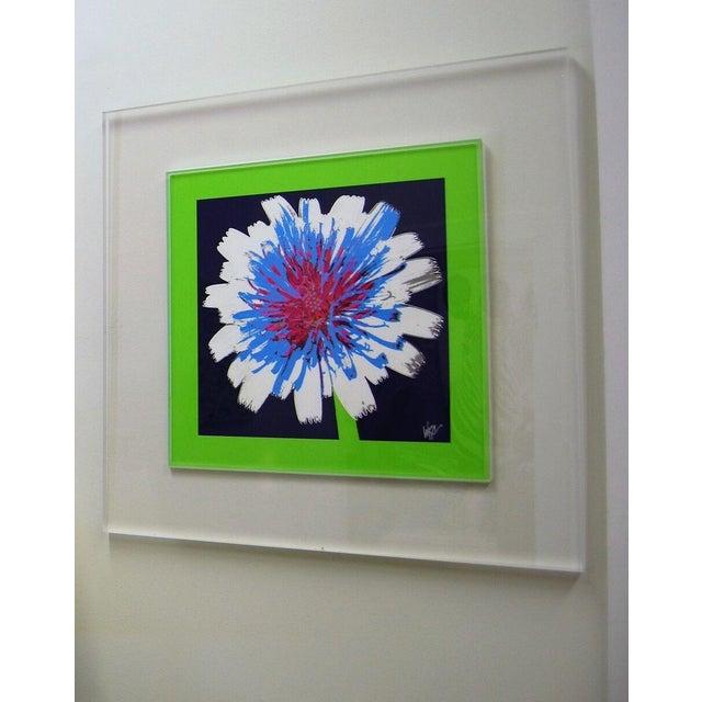 "Original ""Dandelion"" Photograph in Lucite Frame - Image 2 of 3"
