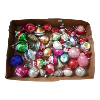 1960s Vintage Christmas Ornaments - Set of 39 For Sale