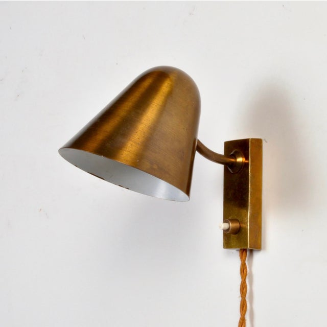 1950s Brass Wall Lamp by Jacques Biny France 1950s For Sale - Image 5 of 5