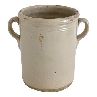 19th C Italian Glazed Terracotta Olive Jar For Sale