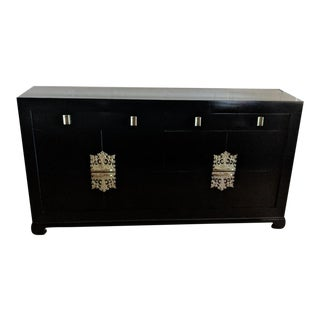 1940s Vintage Albert of Shelbyville High Gloss Black Dresser For Sale