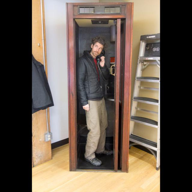 Traditional Vintage Wooden Stand Alone Phone Booth For Sale - Image 3 of 11