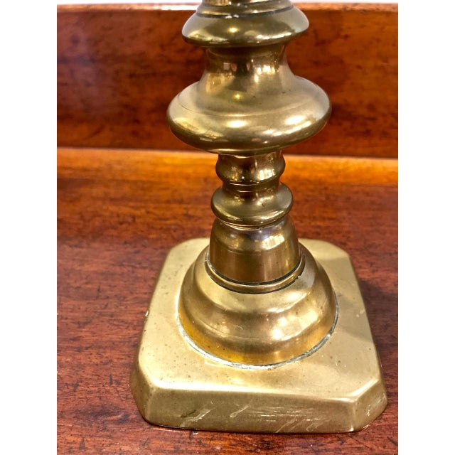 Mid 19th Century 19th Century Brass Push-Up Candlesticks For Sale - Image 5 of 7