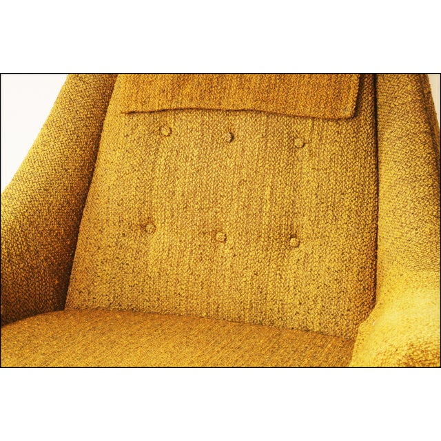 Mid Century Modern Upholstered Lounge Chair by Flexsteel - Image 9 of 11