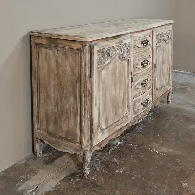Oak 19th Century Country French Normandy Painted Buffet For Sale - Image 7 of 13