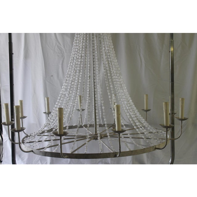 Napoli Style 'Aiden' Gray Draped Transparent Chandelier For Sale - Image 4 of 8