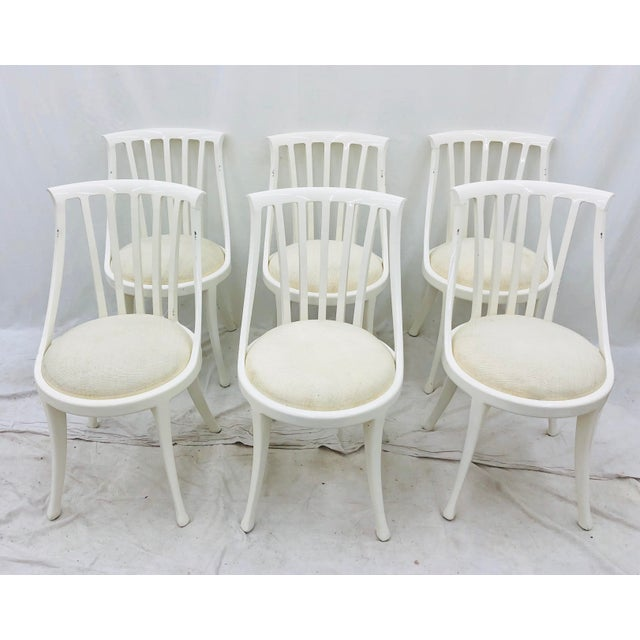 Abstract Set Vintage Poltrona Frau Dining Chairs For Sale - Image 3 of 13