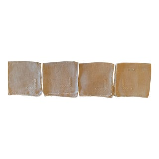 Irish Linen Tablecloth & Napkins - Set of 5 For Sale