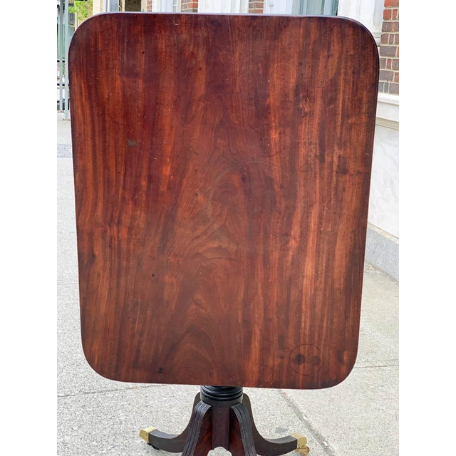 Late 18th Century Late 18th- Early 19th Century Mahogany Tilt Top Table For Sale - Image 5 of 10